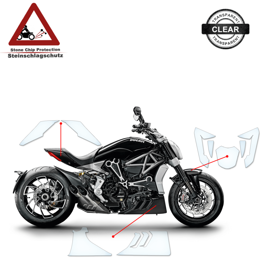 Tank Pad / Tankschutz Folie Ducati X Diavel S 2016+