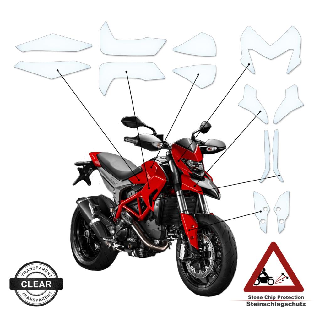 Steinschlag- / Lackschutzfolie Ducati Hyper Motard 2014-2018