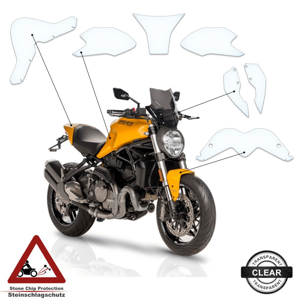 Tankpad / Tankschutz Folie Ducati Monster 797 821 2017+