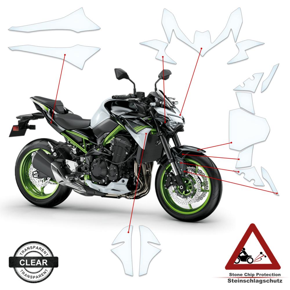 Steinschlag- / Lackschutzfolie Kawasaki Z900 2020+