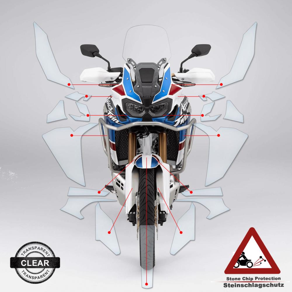 Steinschlag- / Lackschutzfolie Honda Africa Twin CRF1000L Adventure 2018+