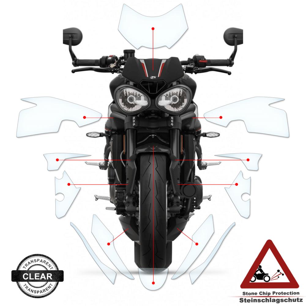 Tank Pad / Tankschutz Folie Triumph 1050 Speed Triple RS 2018+