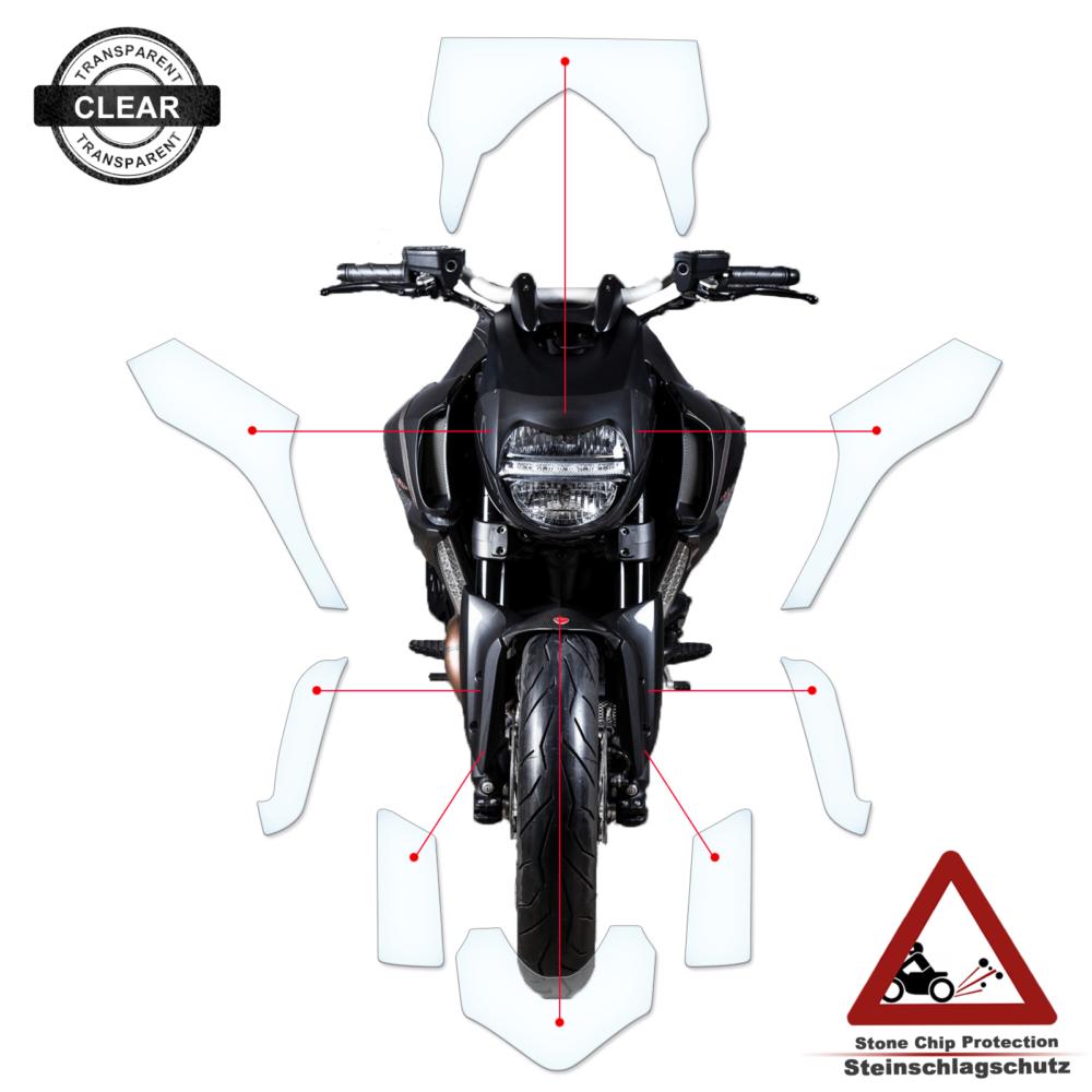 Tank Pad / Tankschutz Folie Ducati Diavel Strada 2011-2018